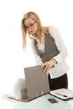biznesowa biurka falcówki kobieta Fotografia Royalty Free