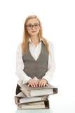biznesowa biurka falcówki kobieta Zdjęcie Royalty Free