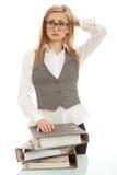 biznesowa biurka falcówki kobieta Zdjęcia Royalty Free