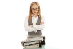biznesowa biurka falcówki kobieta Zdjęcia Stock