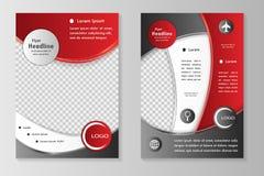 Biznesowa broszurka lub pokrywa Zdjęcia Stock