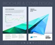 Biznesowa broszurka z poligonalnym samolotem również zwrócić corel ilustracji wektora Obraz Stock