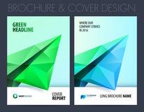 Biznesowa broszurka z poligonalnym samolotem również zwrócić corel ilustracji wektora Zdjęcia Royalty Free