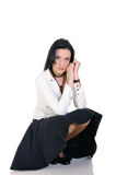 biznesowa brunetki kobieta Zdjęcia Stock