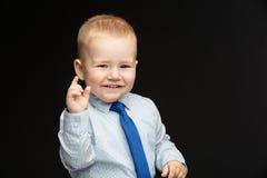 Biznesowa chłopiec w krawacie Zdjęcia Royalty Free