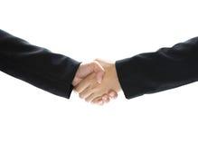 Biznesowa chwianie ręka odizolowywająca na białym tle Fotografia Royalty Free
