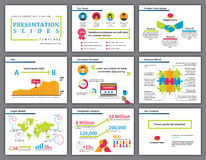 Biznesowa colourful infographics prezentacja Fotografia Stock