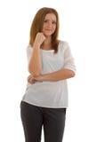Biznesowa dama w czarny i biały kostiumu Obrazy Stock