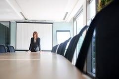 Biznesowa dama w pokoju konferencyjnym zdjęcia royalty free