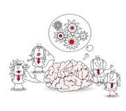 Biznesowa drużyna i mózg ilustracji
