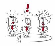 Biznesowa drużyna i oklepiec ilustracji