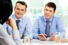 Biznesowa dyskusja Zdjęcie Stock