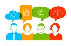 Biznesowa dyskusja ilustracji