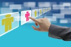 biznesowa elektroniczna rekrutacja obrazy royalty free