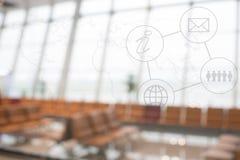 Biznesowa ewidencyjna grafika z plamy tłem Fotografia Royalty Free