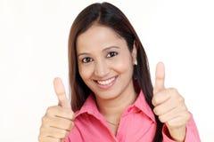 biznesowa gesta aprobat kobieta Zdjęcie Royalty Free