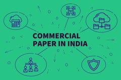 Biznesowa ilustracja pokazuje pojęcie handlowy papier wewnątrz ilustracji