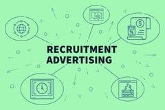 Biznesowa ilustracja pokazuje pojęcie rekrutacyjna reklama obrazy royalty free