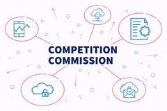 Biznesowa ilustracja pokazuje pojęcie turniejowi commiss royalty ilustracja