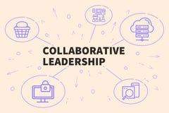 Biznesowa ilustracja pokazuje pojęcie współpracujący leade ilustracja wektor