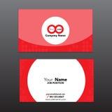 Biznesowa imię karty szablonu wektorowa ilustracja eps 10 Zdjęcie Stock