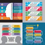Biznesowa infographic szablonu pojęcia wektoru ilustracja sztandaru abstrakcjonistyczny set Reklamowa promocyjna układ kolekcja royalty ilustracja