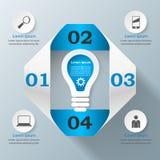 Biznesowa Infographics origami stylu wektoru ilustracja Fotografia Royalty Free