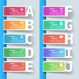 Biznesowa Infographics origami stylu wektoru ilustracja Zdjęcia Royalty Free