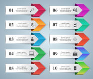 Biznesowa Infographics origami stylu wektoru ilustracja Obraz Stock