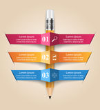 Biznesowa Infographics origami stylu wektoru ilustracja Zdjęcie Royalty Free