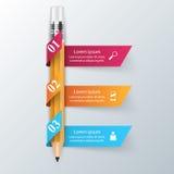 Biznesowa Infographics origami stylu wektoru ilustracja Zdjęcie Stock
