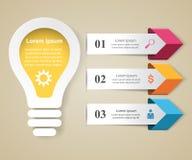 Biznesowa Infographics origami stylu wektoru ilustracja Obrazy Royalty Free