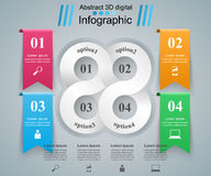 Biznesowa Infographics origami stylu wektoru ilustracja Zdjęcia Stock