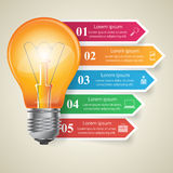 Biznesowa Infographics origami stylu wektoru ilustracja Żarówki ikona Zdjęcie Stock