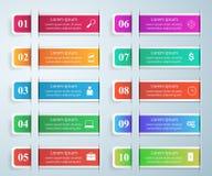Biznesowa Infographics origami stylu wektoru ilustracja Lista Zdjęcia Stock