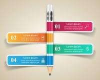 Biznesowa Infographics origami stylu wektoru ilustracja Ołówek Zdjęcia Stock