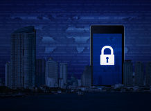 Biznesowa internet ochrona, elementy ten wizerunek meblujący obok obrazy royalty free