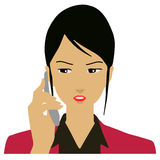Biznesowa kobieta dzwoni na telefonie Zdjęcie Royalty Free