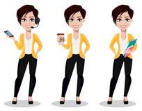 Biznesowa kobieta, freelancer, bankowiec Piękna dama w przypadkowych ubraniach ilustracji