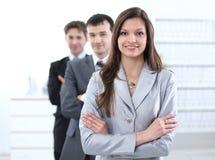 Biznesowa kobieta i biznes drużyna Fotografia Stock