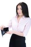 Biznesowa kobieta i pieniądze zdjęcia royalty free