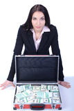 Biznesowa kobieta i pieniądze obrazy royalty free