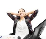Biznesowa kobieta jest relaksująca Obrazy Stock