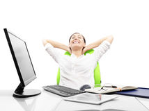 Biznesowa kobieta jest relaksująca Fotografia Stock