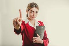 Biznesowa kobieta mówi nie Obrazy Stock