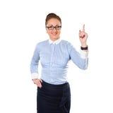 Biznesowa kobieta ma dobrego pomysł Zdjęcia Stock