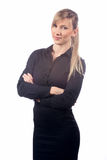 Biznesowa kobieta na białym tle obraz royalty free