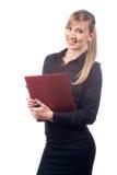 Biznesowa kobieta na białym tle zdjęcie royalty free
