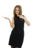Biznesowa kobieta na białym tle Fotografia Stock