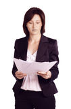 Biznesowa kobieta. Odizolowywający nad białym tłem obrazy stock